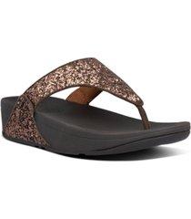 fitflop women's lulu glitter toe-thongs sandal women's shoes