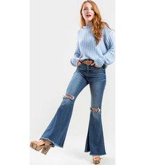 harper heritage high rise flared jeans - dark