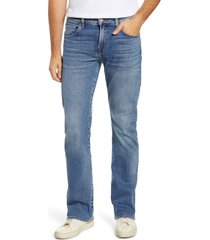 men's 7 for all mankind brett squiggle bootcut jeans, size 33 - blue