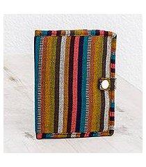 cotton passport wallet, 'exploring' (guatemala)