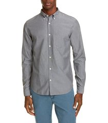 men's closed chambray button-down shirt, size xx-large - grey