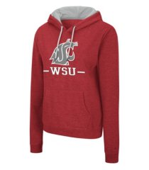 colosseum washington state cougars women's genius hooded sweatshirt