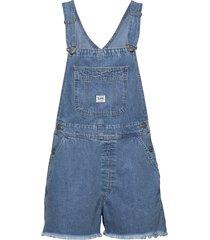 bib short jumpsuit blauw lee jeans