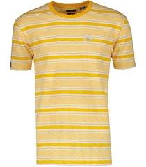 superdry t-shirt - slim fit - geel