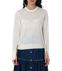 chloé white wool blend shirt