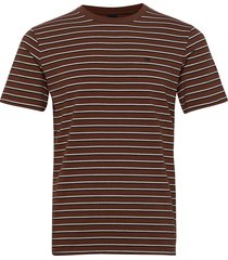 classic cotton-elastane crewneck tee t-shirts short-sleeved brun scotch & soda
