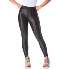 legging areia bronze disco pants com bolso preto