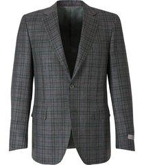 straight checked blazer