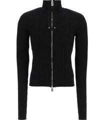 1017 alyx 9sm full zip ribbed sweater