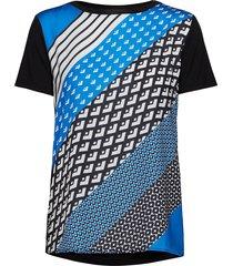 t-shirt short-sleeve blouses short-sleeved blå taifun