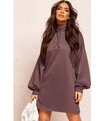 recycled sweat oversized hoodie dress, steel