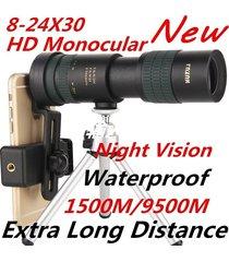 telescopio monocular 8-24x30 telescopio con zoom ajustable