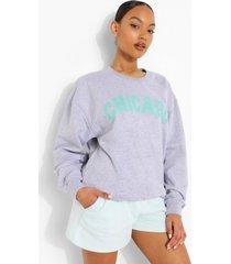 chicago sweater, grey marl