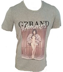 g-brand grijs stretch shirt met strass