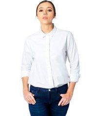 camisa valentina para mujer - blanco