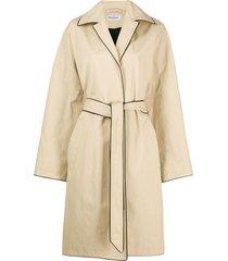 balenciaga wrap cocoon coat - neutrals