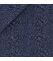 pantaloni da uomo su misura, vitale barberis canonico, blu moderno spigato, quattro stagioni