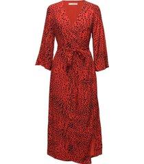 loui dress ao18 jurk knielengte rood gestuz