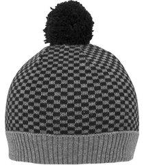 gorro tejido diseño de cuadros 100% en algodón para hombre 89446