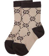 gucci beige socks for babykids