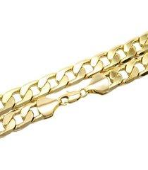 corrente grumet com 12mm tudo jóias folheada a ouro 18k