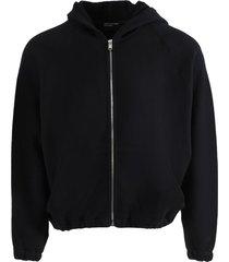 checkerboard logo zip hoodie