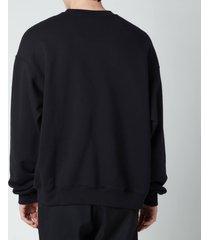 mackage men's justice fleece jersey sweatshirt - black - xl