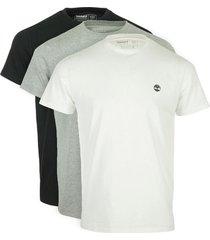 t-shirt korte mouw timberland 3x pack basic tee