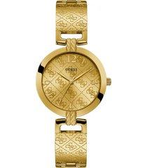 reloj g luxe dorado guess