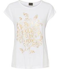 maglia con stampa dorata (bianco) - bodyflirt
