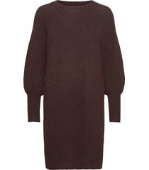 slfsif kaya ls knit dress o-neck b gebreide trui bruin selected femme