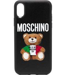 moschino teddy bear-print iphone x/xs case - black