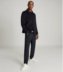 reiss connery - wool blend worker jacket in navy, mens, size xxl