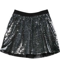 givenchy silver sequin-embroidered skirt