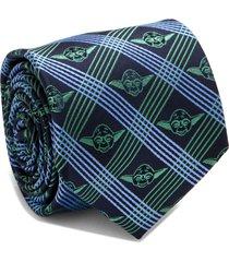 men's cufflinks, inc. yoda grid silk tie