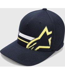 gorra azul-amarillo-blanco alpinestars unified