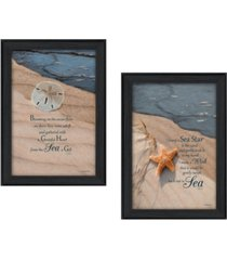 """trendy decor 4u a gift from the sea collection by robin-lee vieira, printed wall art, ready to hang, black frame, 30"""" x 21"""""""