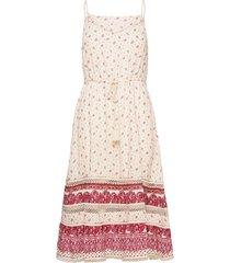 ameera cami dress knälång klänning rosa superdry