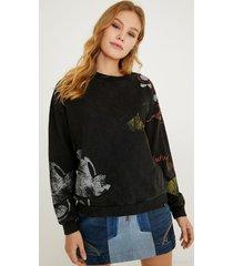 minnie mouse plush sweatshirt - black - xl