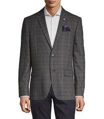plaid standard-fit coat