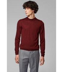 sweater burdeo de lana virgen boss