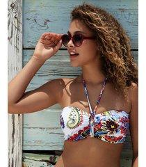 rococo underwire bandeau bikini top
