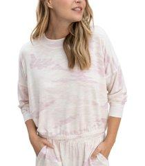 splendid printed dropped-shoulder sweatshirt