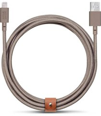 belt extra long lightning charging cable - taupe