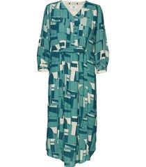 dress long sleeve jurk knielengte groen noa noa