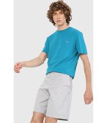 camiseta azul turquesa lacoste
