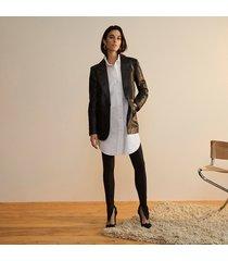 river island womens black ri studio leather fitted blazer