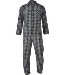 hanes men's cvc broadcloth pajama set