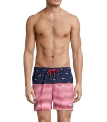 trunks surf + swim men's sano printed swim shorts - marine - size xxl