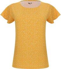 camiseta lluvia floral color amarillo, talla m